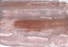 Rosy brown vague watercolor illustration Royalty Free Stock Photo