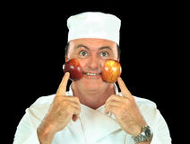 Rosy Cheeked Apple Chef Stock Photo