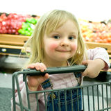 Rosy-Cheeked Little Girl Royalty Free Stock Photo