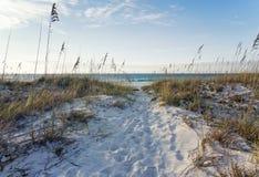 Rosy Dawn à la plage photographie stock libre de droits