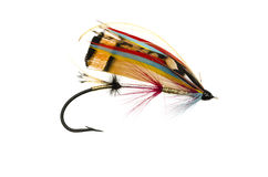 Rosy Dawn Salmon Fly Stock Photography