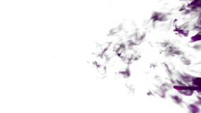 Rosy Ink with alpha mask in water move in slow motion. VFX Cloud of Ink or smoke for transitions, background, overlay stock video