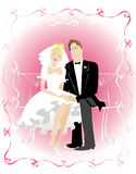 Rosy life. Just married Vector Illustration