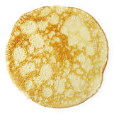 Rosy pancake. Isolated on a white background, top view Stock Photography