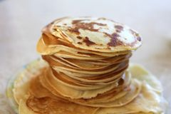 Fresh rosy pancakes Royalty Free Stock Images