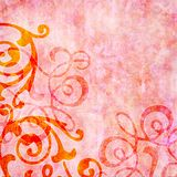 Rosy pink background with colorful swirls. With copyspace Royalty Free Stock Photography