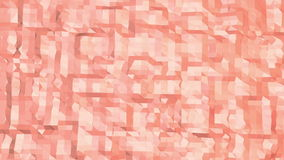 Rosy or pink low poly surface as futuristic transforming shining background. Polygonal digital mosaic red environment or stock video footage