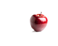 Rosy Red Apple Royalty Free Stock Photos