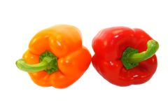 Rosy and red peppers Royalty Free Stock Photo