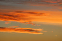 Rosy sunset sky and clouds Royalty Free Stock Photography