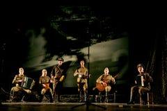 Rosyjscy żołnierze bawić się postój w syntezie muzykalna orkiestra Zdjęcie Stock