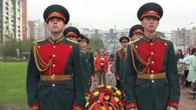 Rosyjscy żołnierze w strażniku honor 4K zbiory