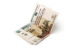 Rosyjscy banknoty zdjęcia royalty free