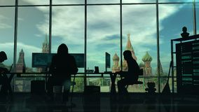 Rosyjscy hackery przy pracą royalty ilustracja