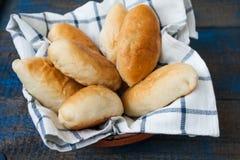 Rosyjscy kulebiaki z mięsem, kapusta Obrazy Stock