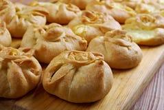 Rosyjscy kulebiaki z serem Obrazy Stock