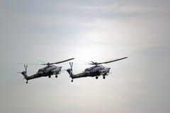 Rosyjscy militarni helikoptery Zdjęcie Stock