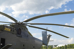 Rosyjscy militarni helikoptery przy międzynarodową wystawą Zdjęcia Royalty Free