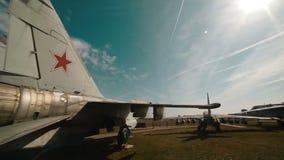 Rosyjscy Militarni samoloty przy bazą zbiory