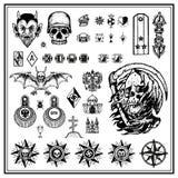 Rosyjscy przestępca palca tatuaże royalty ilustracja