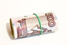 Rosyjscy ruble Zdjęcia Royalty Free