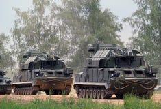 Rosyjscy szpaltowi pojazdy pancerni Zdjęcie Stock