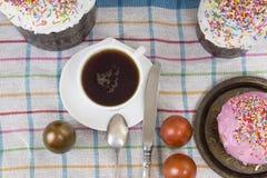 Rosyjscy Wielkanocni jajka z obrazkiem Obrazy Stock