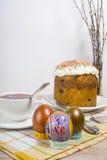 Rosyjscy Wielkanocni jajka z obrazkiem Obraz Stock