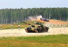 Rosyjscy zbiorniki T72b Fotografia Royalty Free