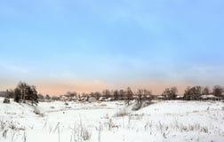 rosyjską chmury nieba lata wioskę Obraz Royalty Free