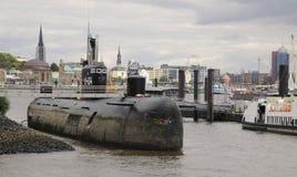 Rosyjska łódź podwodna U-434 w porcie Hamburg obraz stock