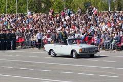 Rosyjska ceremonia otwarcie militarna parada na rocznym zwycięzcy Zdjęcia Royalty Free