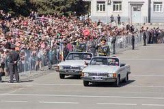 Rosyjska ceremonia otwarcie militarna parada na rocznym zwycięzcy Fotografia Royalty Free