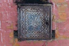 Rosyjska czerwonej cegły kuchenka fotografia stock