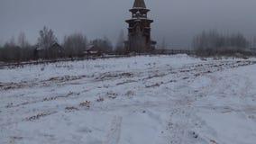 Rosyjska drewniana architektura Sergiyev Posada Gremyachiy klucz Święty źródło Mknąca data 26 2017 Listopad panorama zdjęcie wideo