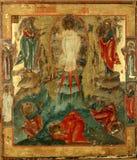 Rosyjska ikona transfiguracja zdjęcie royalty free