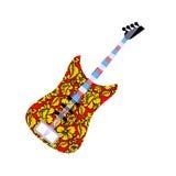 Rosyjska krajowa gitara Zdjęcia Royalty Free
