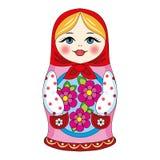 Rosyjska lala royalty ilustracja