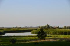 Rosyjska natura, rzeka Fotografia Royalty Free