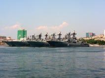 Rosyjska navyPacific flota obrazy stock