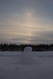 Rosyjska północ, północne chmury Obraz Royalty Free