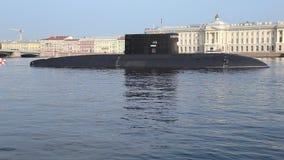 Rosyjska podwodna ` Krasnodar ` klasa Ulepszał kilogram z systemem rakietowym Kalibr zdjęcie wideo
