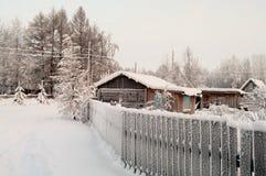 rosyjska sezonu wioski zima Obraz Royalty Free