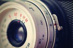 Rosyjska stara analogowa kamera Stara retro fotografia Zdjęcia Royalty Free