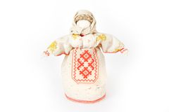 Rosyjska tradycyjna gałganiana lala obrazy royalty free