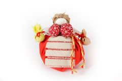 Rosyjska tradycyjna lala Kubyshka Travnitsa Zdjęcia Royalty Free