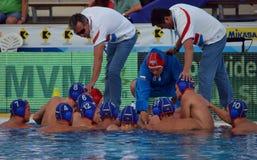 Rosyjska waterpolo drużyna w przerwie Fotografia Stock
