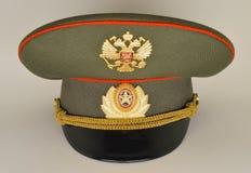 Rosyjska wojsko oficera wojskowego nakrętka Obrazy Royalty Free