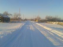 Rosyjska zima w zachodnim Siberia Obrazy Stock