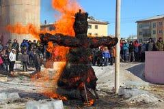 Rosyjski świętowanie zima Maslenitsa (ostatki) Fotografia Stock